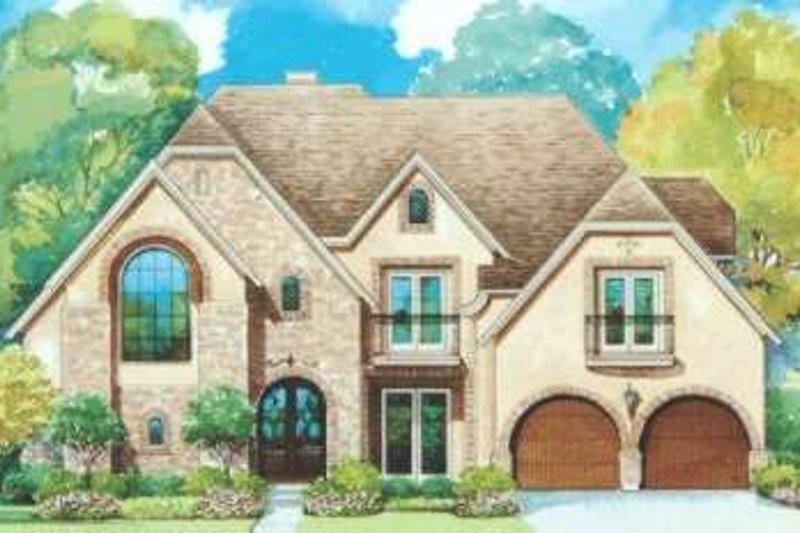 European Exterior - Front Elevation Plan #20-1734 - Houseplans.com
