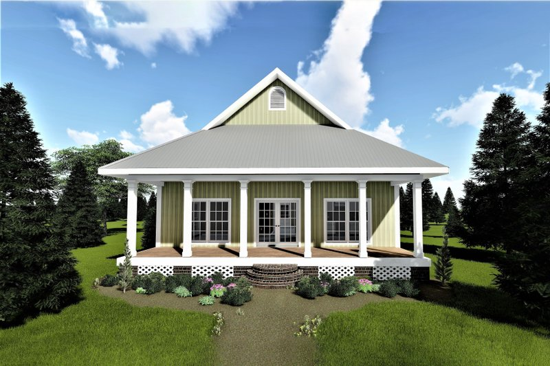 Cottage Exterior - Front Elevation Plan #44-167