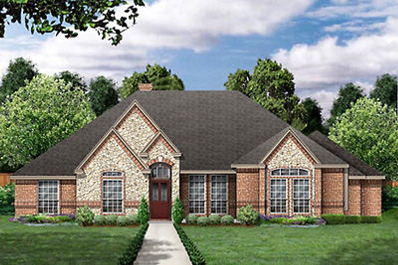 European Exterior - Front Elevation Plan #84-250