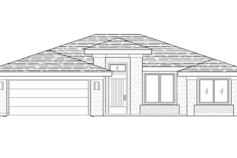 Adobe / Southwestern Style House Plan - 3 Beds 2 Baths 1463 Sq/Ft Plan #24-250 Exterior - Front Elevation