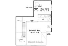 Country Floor Plan - Upper Floor Plan Plan #929-1081