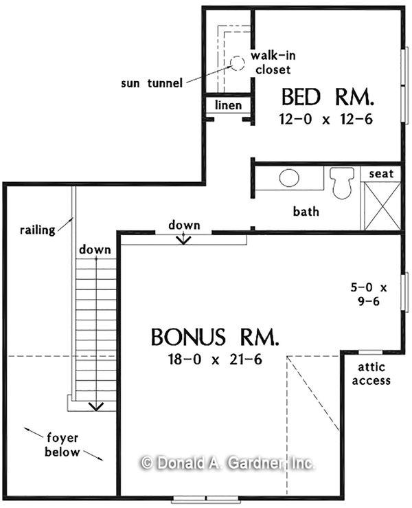 Country Floor Plan - Upper Floor Plan #929-1081