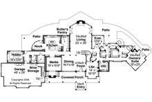 Craftsman Floor Plan - Main Floor Plan Plan #124-691