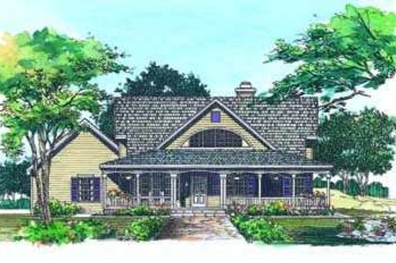 Dream House Plan - Country Exterior - Front Elevation Plan #72-135