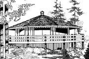 Modern Style House Plan - 2 Beds 1 Baths 696 Sq/Ft Plan #60-104