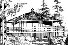 Dream House Plan - Modern Exterior - Front Elevation Plan #60-104