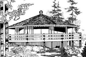 Modern Exterior - Front Elevation Plan #60-104