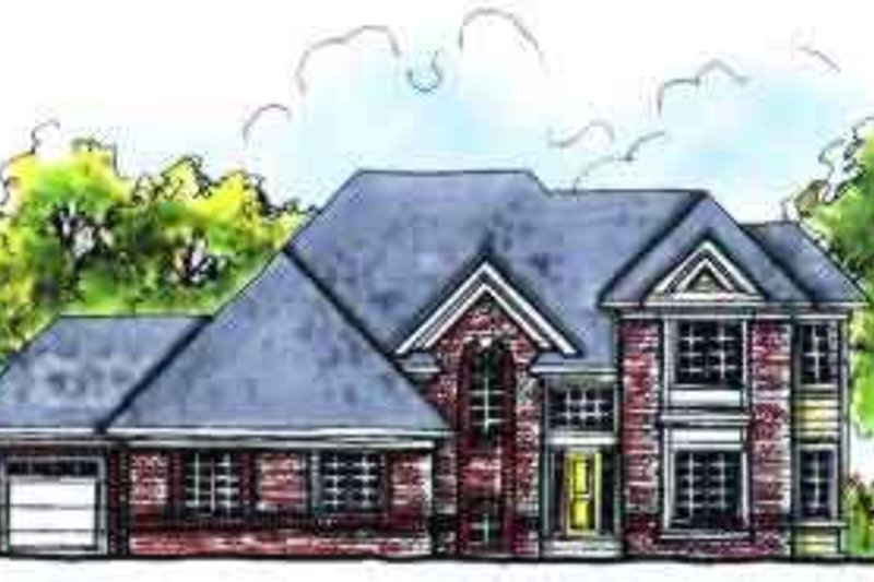 Colonial Exterior - Front Elevation Plan #70-632