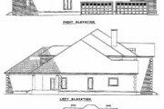 European Style House Plan - 4 Beds 6 Baths 6388 Sq/Ft Plan #17-441 Exterior - Rear Elevation
