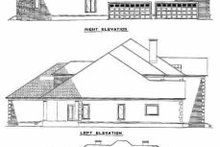 House Plan Design - European Exterior - Rear Elevation Plan #17-441