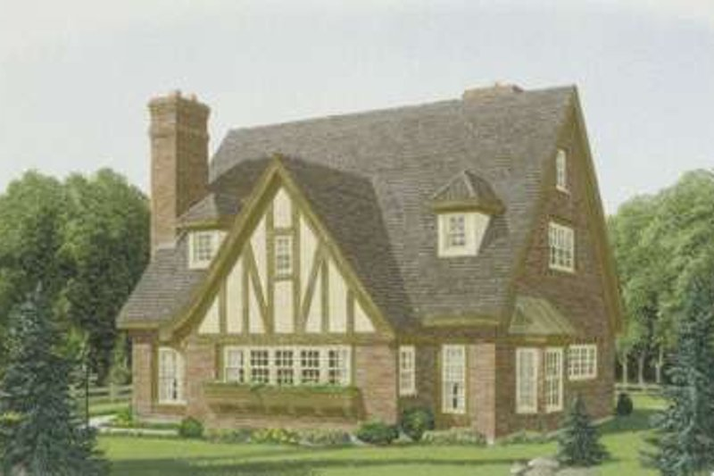 European Exterior - Front Elevation Plan #410-137