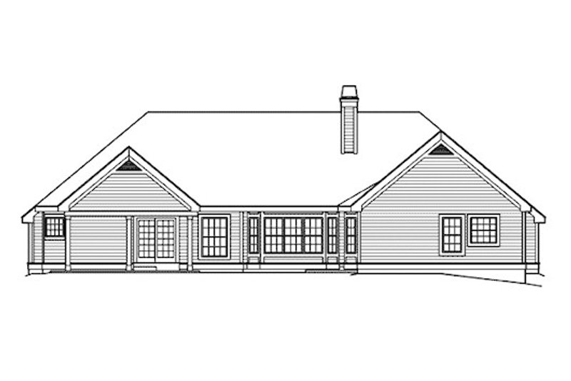 Southern Exterior - Rear Elevation Plan #57-355 - Houseplans.com