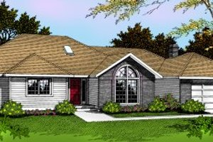 Traditional Exterior - Front Elevation Plan #91-101