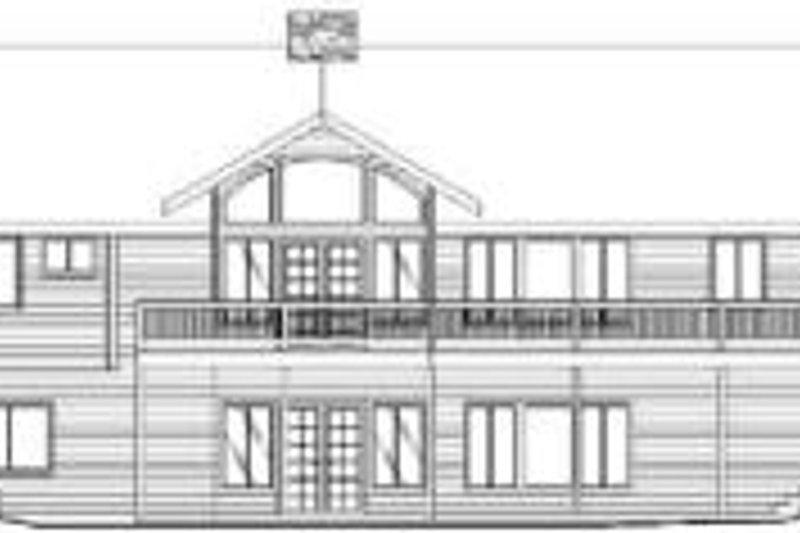 Traditional Exterior - Rear Elevation Plan #117-166 - Houseplans.com