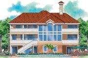 Mediterranean Style House Plan - 5 Beds 4.5 Baths 4139 Sq/Ft Plan #930-131 Exterior - Rear Elevation