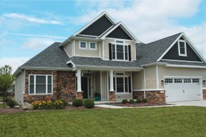 Home Plan - Traditional Exterior - Front Elevation Plan #20-2134