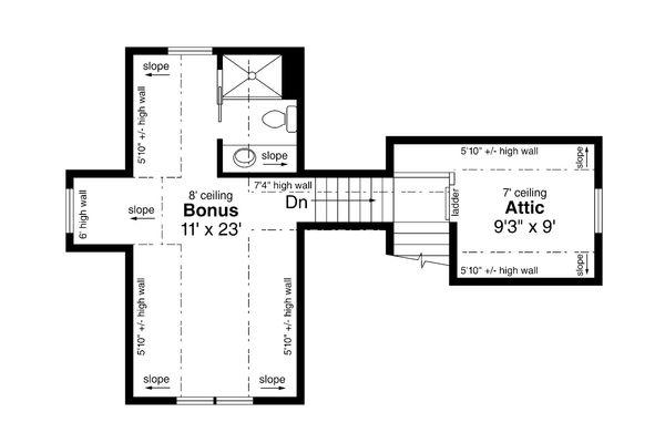 Dream House Plan - Cottage Floor Plan - Upper Floor Plan #124-1188