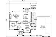 Craftsman Style House Plan - 4 Beds 2.5 Baths 3100 Sq/Ft Plan #51-474 Floor Plan - Main Floor Plan