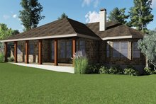 Dream House Plan - Craftsman Exterior - Covered Porch Plan #935-10