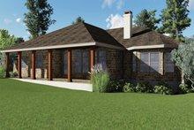 Craftsman Exterior - Covered Porch Plan #935-10