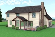 Traditional Style House Plan - 4 Beds 2.5 Baths 2370 Sq/Ft Plan #75-137 Exterior - Rear Elevation