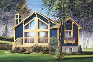 Contemporary Exterior - Front Elevation Plan #25-4193