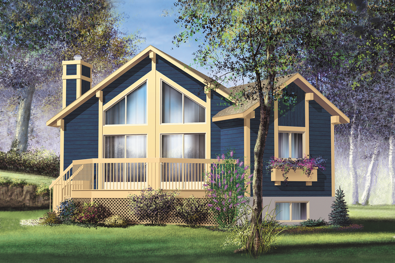 Contemporary Style House Plan - 1 Beds 1 Baths 839 Sq/Ft Plan #25-4193 Exterior - Front Elevation