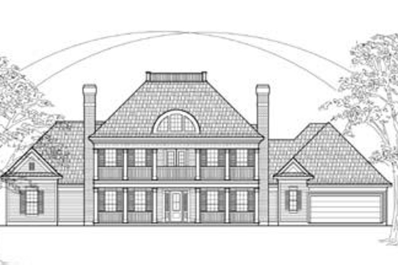 Colonial Exterior - Front Elevation Plan #61-130