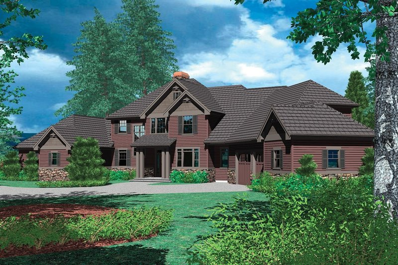 Craftsman Exterior - Front Elevation Plan #48-353