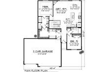 Ranch Floor Plan - Main Floor Plan Plan #70-1020