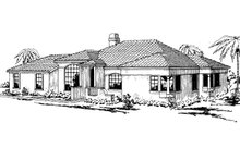Home Plan - Mediterranean Exterior - Front Elevation Plan #124-224