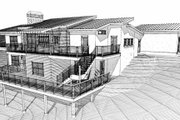 Contemporary Style House Plan - 4 Beds 3 Baths 3103 Sq/Ft Plan #451-15 Exterior - Other Elevation