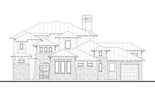 House Plan Design - Prairie Exterior - Front Elevation Plan #80-198