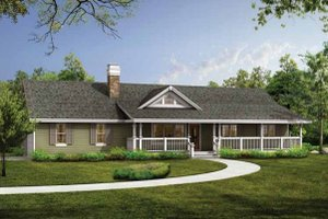 Ranch Exterior - Front Elevation Plan #47-887