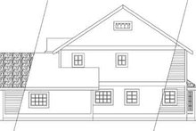 Home Plan Design - Farmhouse Exterior - Rear Elevation Plan #124-196