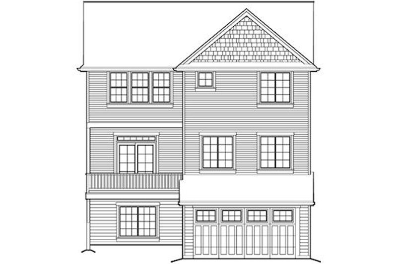 Traditional Exterior - Rear Elevation Plan #48-513 - Houseplans.com