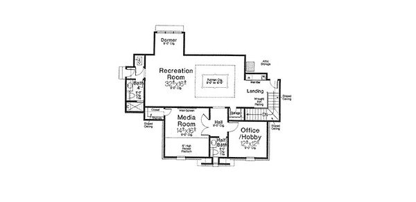 European Floor Plan - Upper Floor Plan Plan #310-700