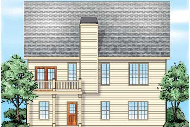 Traditional Exterior - Rear Elevation Plan #927-38 - Houseplans.com
