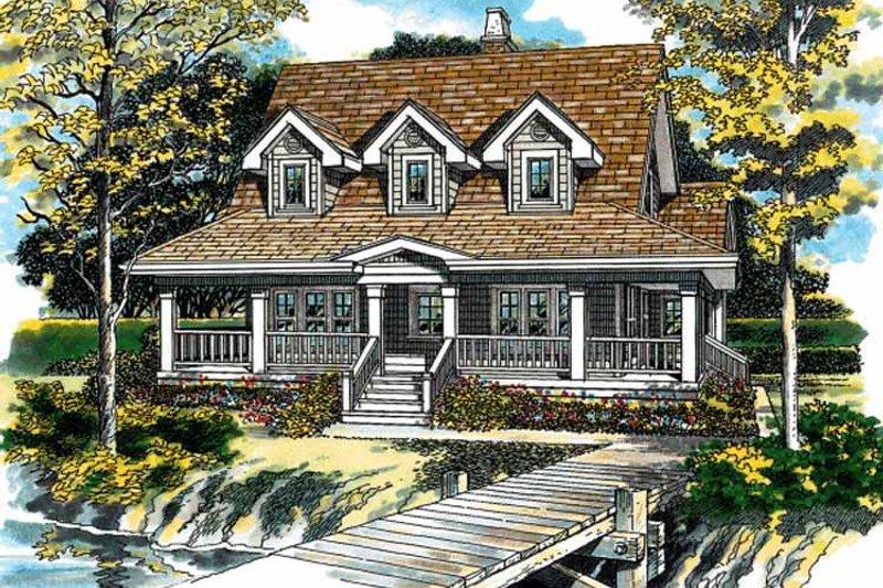 House Blueprint - Victorian Exterior - Front Elevation Plan #47-947