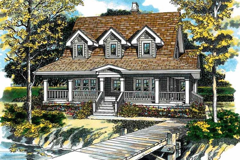 Architectural House Design - Victorian Exterior - Front Elevation Plan #47-947