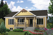 Country Style House Plan - 3 Beds 1 Baths 1102 Sq/Ft Plan #25-4402 Exterior - Front Elevation