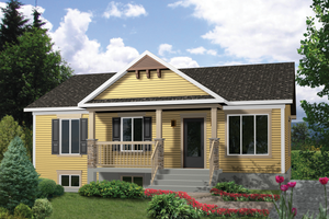 Country Exterior - Front Elevation Plan #25-4402