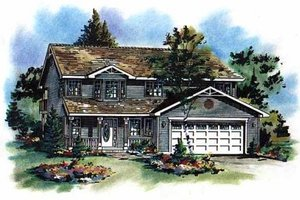 Farmhouse Exterior - Front Elevation Plan #18-210