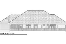 Home Plan - Traditional Exterior - Rear Elevation Plan #70-979