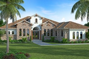 Mediterranean Exterior - Front Elevation Plan #938-90