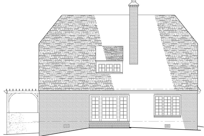 Cottage Exterior - Rear Elevation Plan #137-289 - Houseplans.com