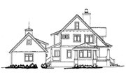 Craftsman Style House Plan - 3 Beds 3 Baths 1825 Sq/Ft Plan #942-52 Exterior - Other Elevation