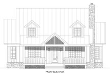 Architectural House Design - Cabin Exterior - Front Elevation Plan #932-252