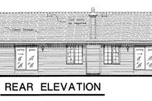 House Blueprint - Ranch Exterior - Rear Elevation Plan #18-170