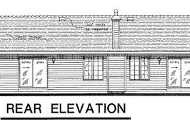 Ranch Exterior - Rear Elevation Plan #18-170 - Houseplans.com